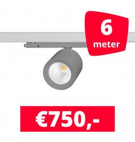 LED Railverlichting BS020 Grijs 6 spots + 6M rails