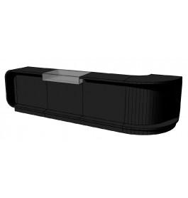 Super high glossy toonbank zwart c-pec-001_comp 380 cm