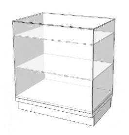 Super high glossy vitrine toonbank met planken 90 cm C-PEC-002
