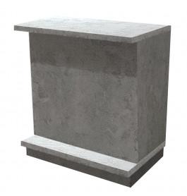 Beton grijs Excentric Toonbank met planken 90 cm C-PEC-004
