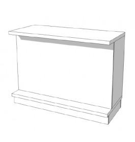 Super high glossy toonbank wit met planken 135 cm C-PEC-005