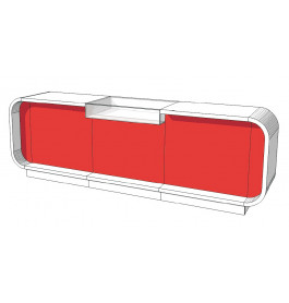 Super high glossy toonbank duotone C-PEC-015-COMP 310 cm