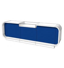 Super high glossy toonbank duotone C-PEC-015-COMP 310 cm blauw
