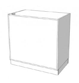 Glossy toonbank met lade en plank C-PEK-010