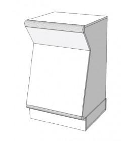Toonbank met inham en deur smal C-PNO-004