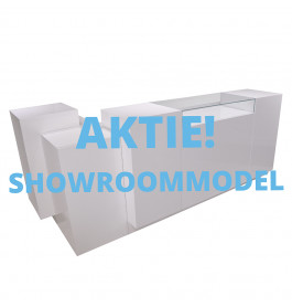 Showroommodel Super high glossy toonbank met vitrineglas