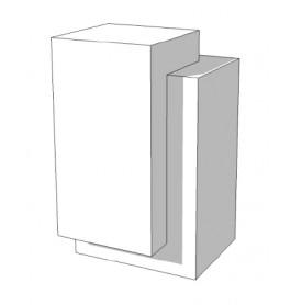 SUPER HIGH GLOSSY toonbank wit met deur rechts 65 cm