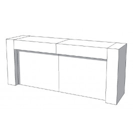 Toonbank U-Frame Thick C-PUH-011-COMP