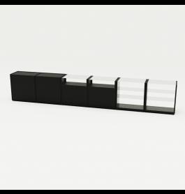 Telefoonwinkel Toonbank zwart combinatie 5