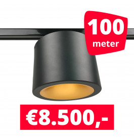 LED Railverlichting CAN Horeca Black 100 Spots 2200K + 100M Rails