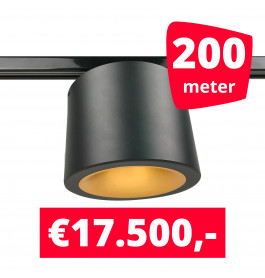 LED Railverlichting CAN Horeca Black 200 Spots 2200K + 200M Rails