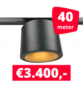 LED Railverlichting CAN Horeca Black 40 Spots 2200K + 40M Rails