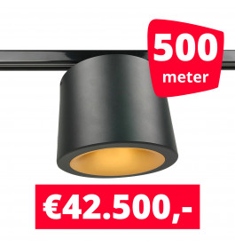 LED Railverlichting CAN Horeca Black 500 Spots 2200K + 500M Rails