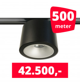 LED RAILVERLICHTING CAN ZWART 500 SPOTS 3000K + 500M RAILS