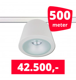 LED RAILVERLICHTING CAN WIT 500 SPOTS 3000K + 500M RAILS