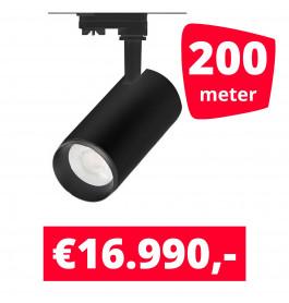 LED Railverlichting Cayena Zwart 200 spots + 200M rails