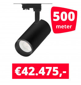LED Railverlichting Cayena Zwart 500 spots + 500M rails