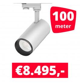 LED Railverlichting Cayena Wit 100 spots + 100M rails