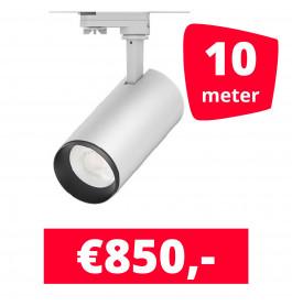 LED Railverlichting Cayena Wit 10 spots + 10M rails