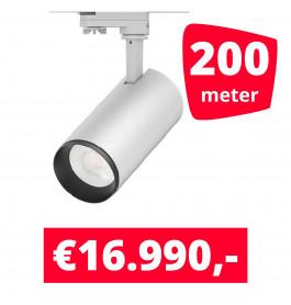 LED Railverlichting Cayena Wit 200 spots + 200M rails