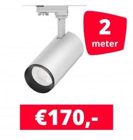 LED Railverlichting Cayena Wit 2 spots + 2M rails