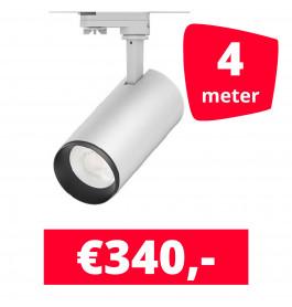 LED Railverlichting Cayena Wit 4 spots + 4M rails