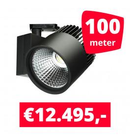 LED Railverlichting Concentra Zwart 3000K 100 spots + 100M rails