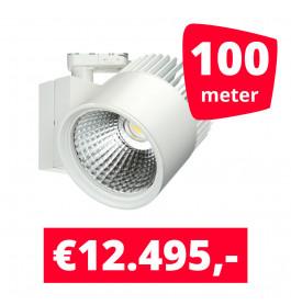 LED Railverlichting Concentra Wit 3000K 100 spots + 100M rails