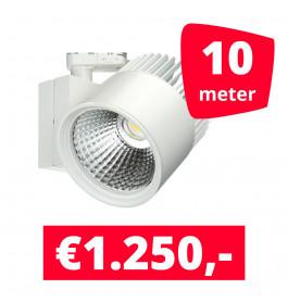 LED Railverlichting Concentra Wit 3000K 10 spots + 10M rails