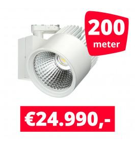 LED Railverlichting Concentra Wit 3000K 200 spots + 200M rails
