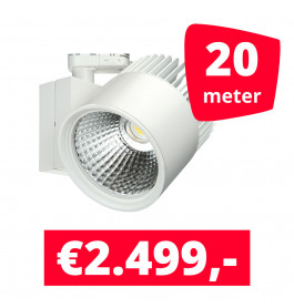 LED Railverlichting Concentra Wit 3000K 20 spots + 20M rails