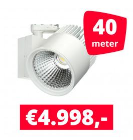 LED Railverlichting Concentra Wit 3000K 40 spots + 40M rails