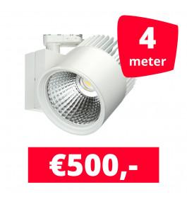LED Railverlichting Concentra Wit 3000K 4 spots + 4M rails