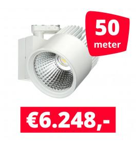 LED Railverlichting Concentra Wit 3000K 50 spots + 50M rails