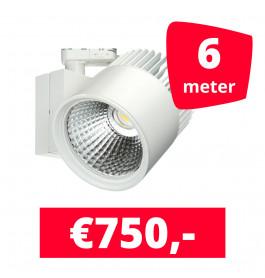 LED Railverlichting Concentra Wit 3000K 6 spots + 6M rails