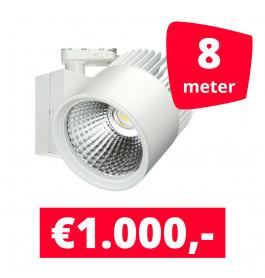 LED Railverlichting Concentra Wit 3000K 8 spots + 8M rails