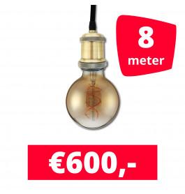 LED Railverlichting Horeca Craft Alu 8 spots + 8M rails