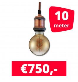 LED Railverlichting Horeca Craft Brown 10 spots + 10M rails