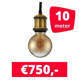 LED Railverlichting Horeca Craft Gold 10 spots + 10M rails