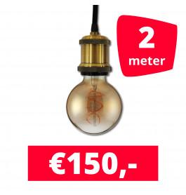 LED Railverlichting Horeca Craft Gold 2 spots + 2M rails