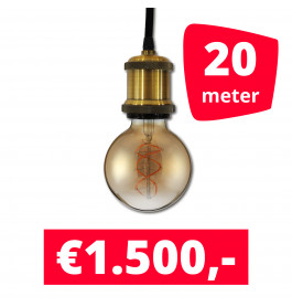 LED Railverlichting Horeca Craft Gold 20 spots + 20M rails