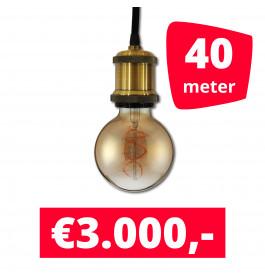 LED Railverlichting Horeca Craft Gold 40 spots + 40M rails