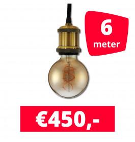 LED Railverlichting Horeca Craft Gold 6 spots + 6M rails