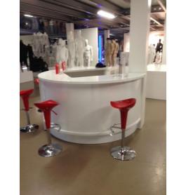 SHOWROOMMODEL Glossy witte ronde bar 110 cm hoog