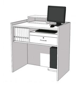 Receptie desk met laag vak