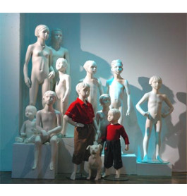 Gestyleerde kinderfiguren van merk about display