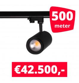 LED Railverlichting Easy Focus 25W Zwart 500 spots + 500M rails