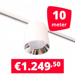 LED Railverlichting Easy Focus LED Can Wit 10 lampen + 10M rails