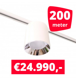 LED Railverlichting Easy Focus LED Can Wit 200 lampen + 200M rails