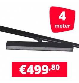 LED Railverlichting Easy Focus Wall 60 cm Zwart 4 spots + 4M rails